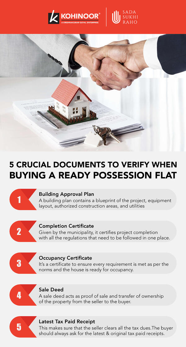 5 Crucial documents to verify when buying ready possession flat_Infographic