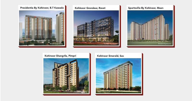Kohinoor Group Residential Projects Pune